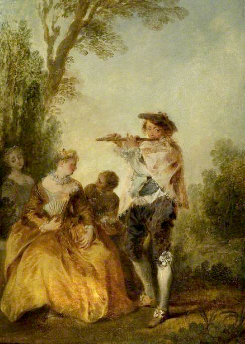 Lancret, Nicolas, 1690-1743; 'With a tender little song...'