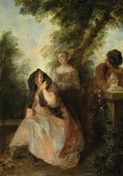 Lancret, Nicolas, 1690-1743; 'In this pleasant solitude...'