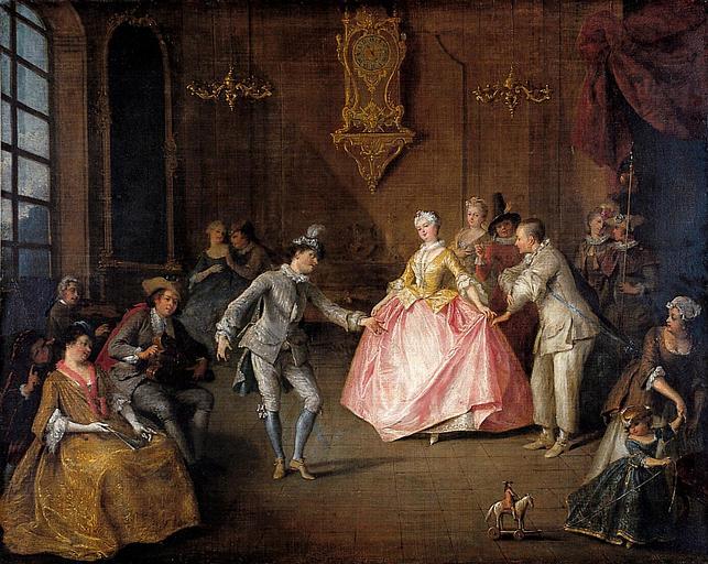 Lancret W337 Avant le bal costume musee de Nantes