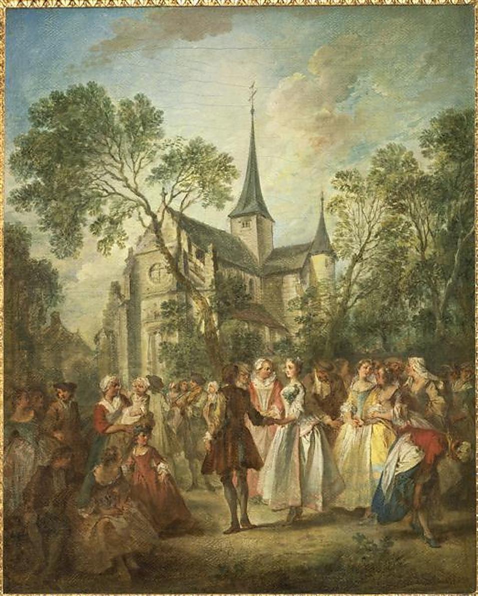 Lancret W514 1735 La danse au village Musee d'Angers