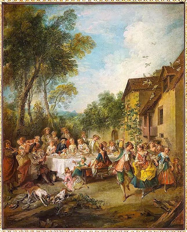 Lancret W515 1735 Un festin de noces de villages Musee d'Angers