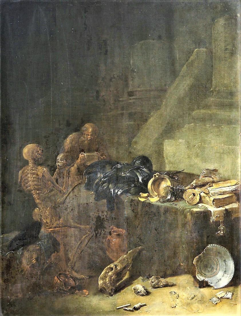 Leonard Bramer 1640 ca Allegorie de la Fugacite Kunsthistorisches Museum Vienne