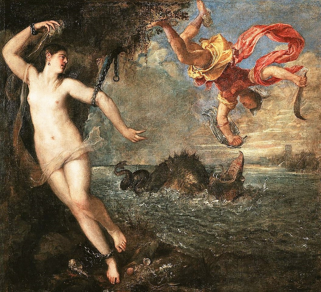 Titien 1554-56 Persee et Andromede Wallace Collection 175 × 189.5 cm