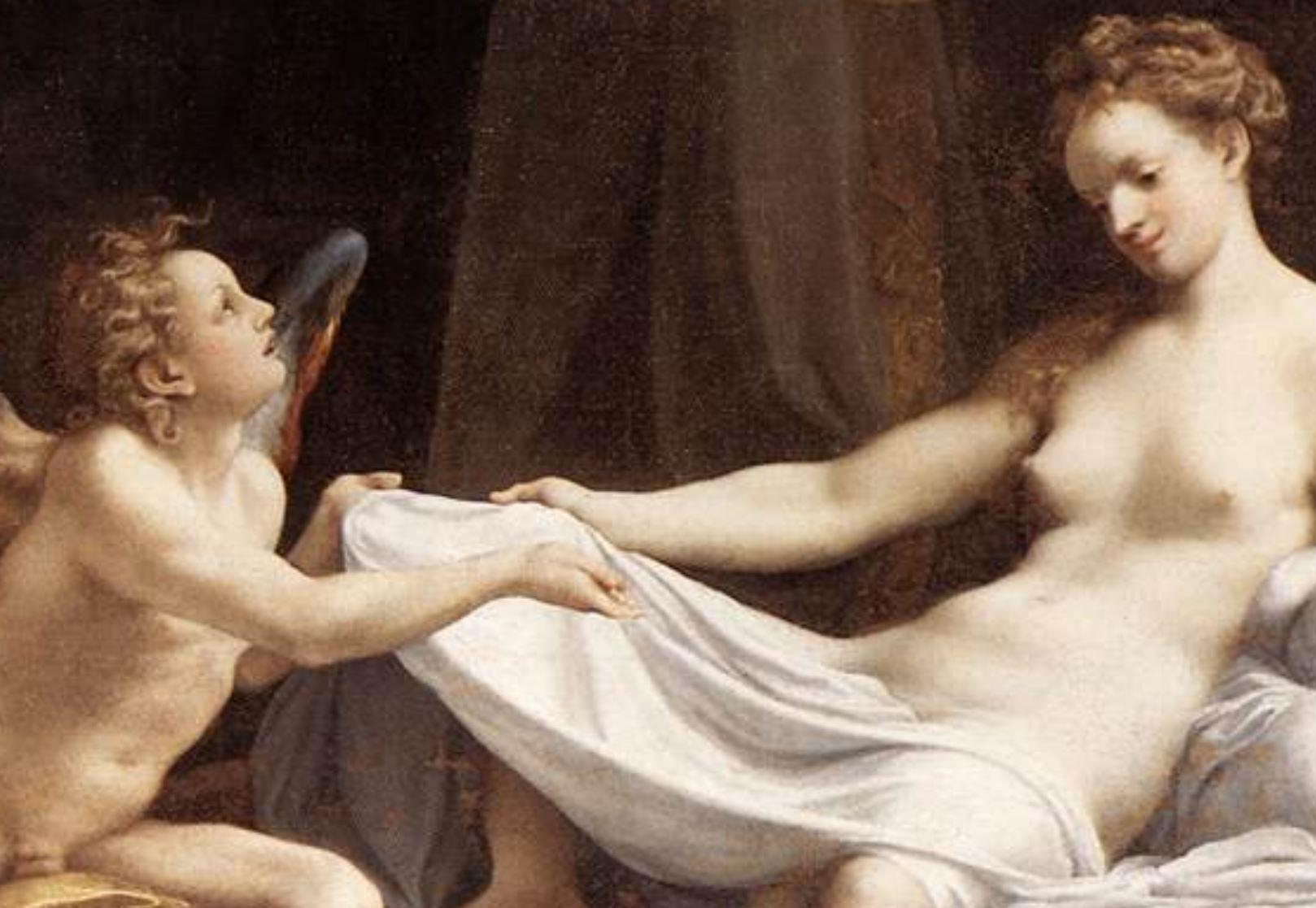 correge 1530 ca danae Galleria Borghese 158 x 189 cm detail