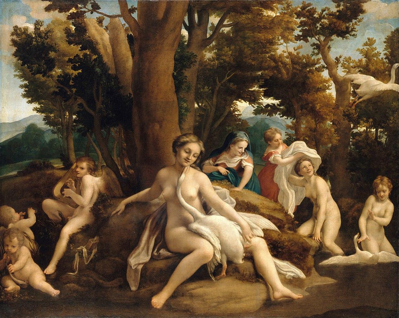 correge 1530 ca leda Staatliche Museen, Berlin 152 x 191 cm