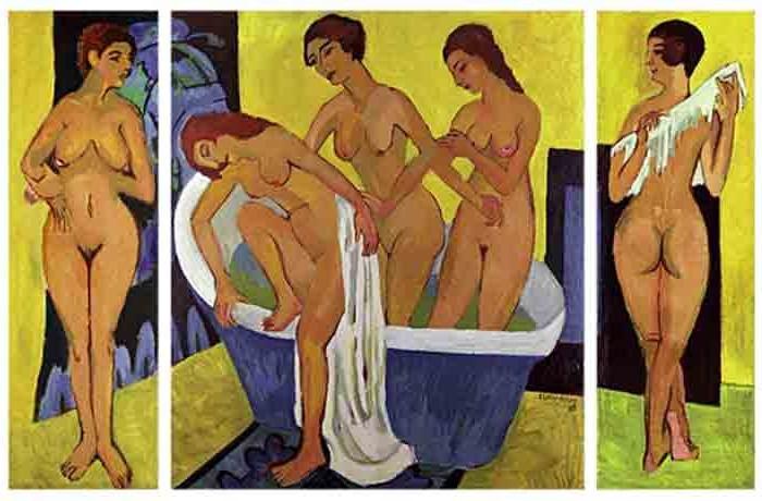 kirchner_badende_frauen_triptychon 1925 NGA