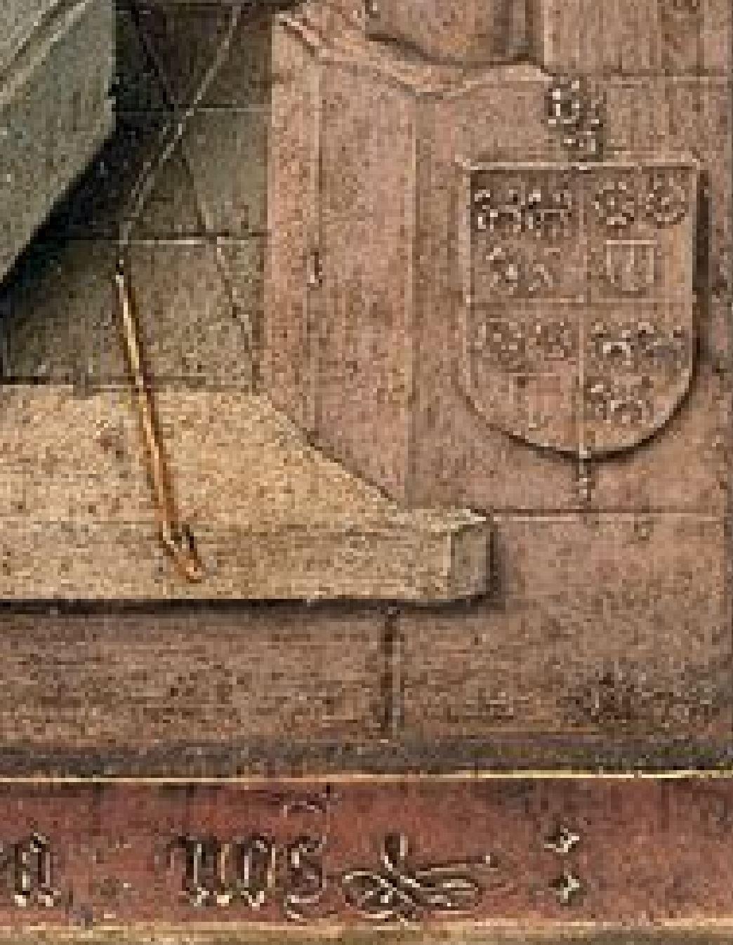 Diptych_Master_of_1499 Abbot Christiaan de Hondt Salvator Mundi , Koninklijk Museum voor Schone Kunsten, Antwerp left detail nos