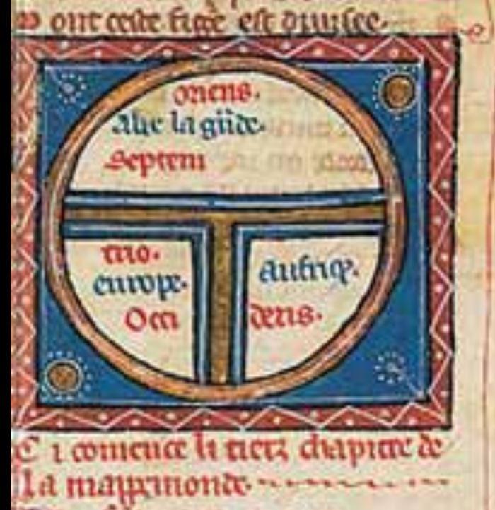 Gossuin de Metz, L'Image du monde Copie du XIIIe siecle BNF Manuscrits Fr 1607 fol 43
