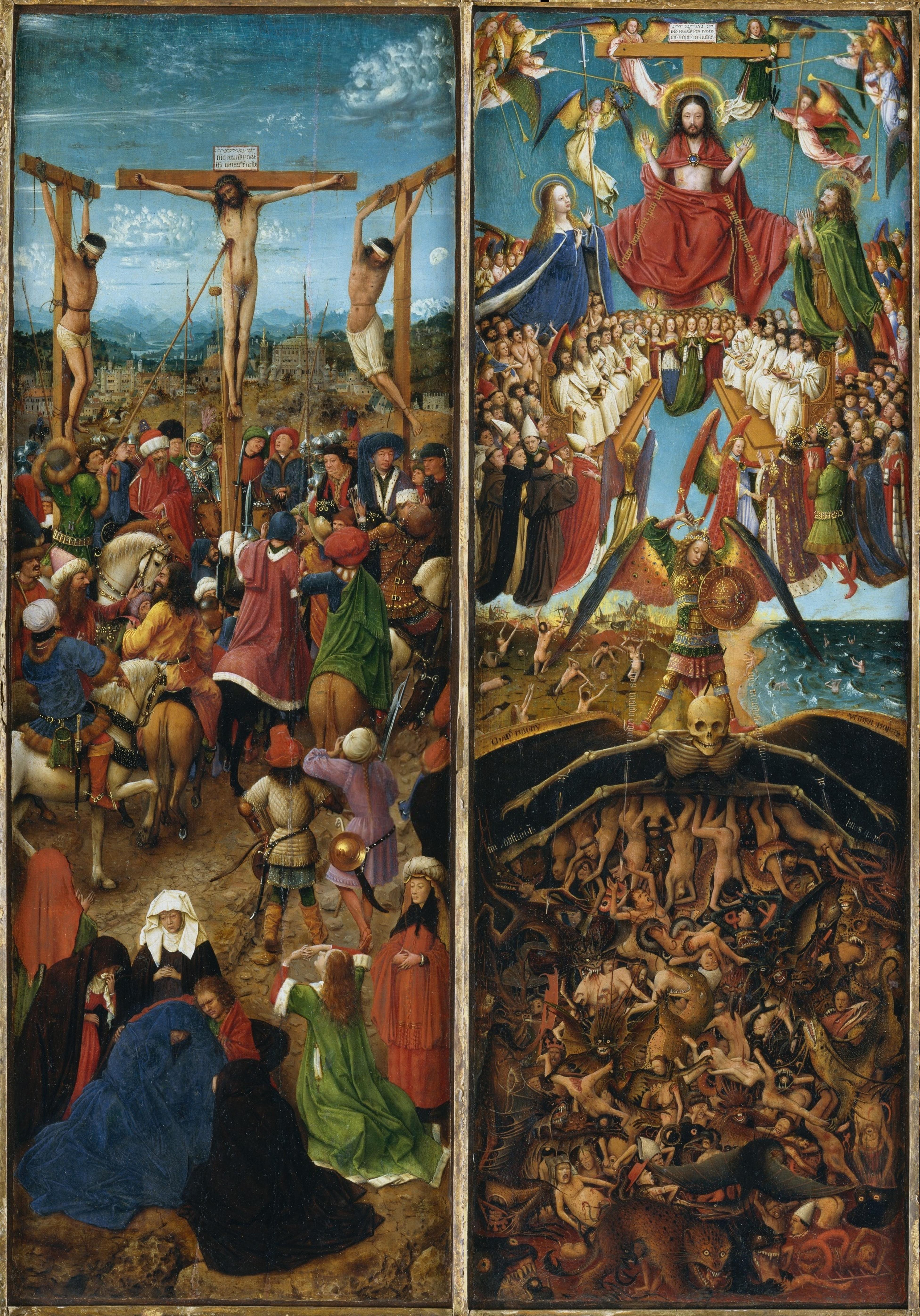 Jan_van_Eyck 1430 ca Diptyque de la Crucifixion et du Jugement dernier MET
