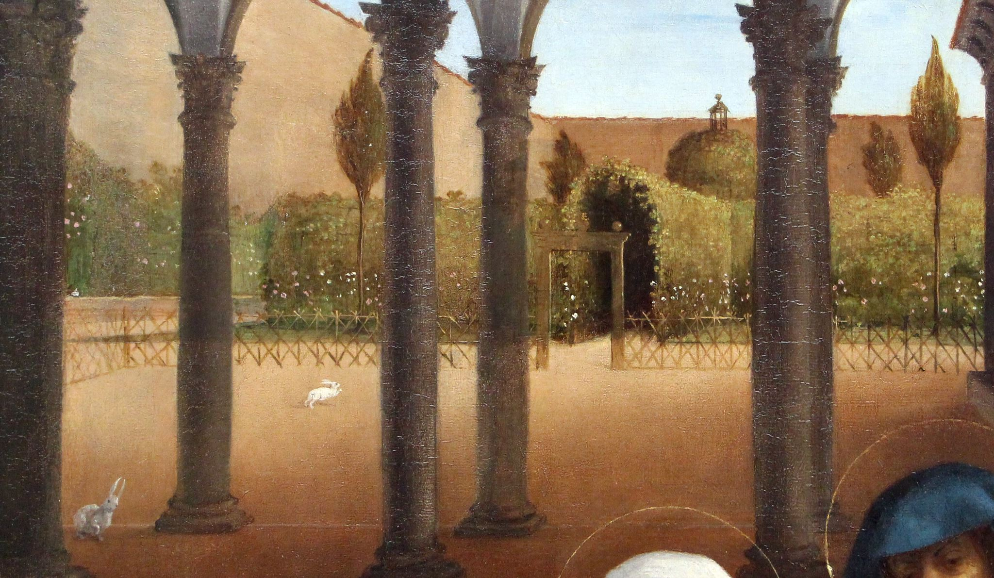 Lotto 1521 Christ taking leave o fhis mother avec Elisabetta Rota Gemaldegalerie, Berlin detail lapins