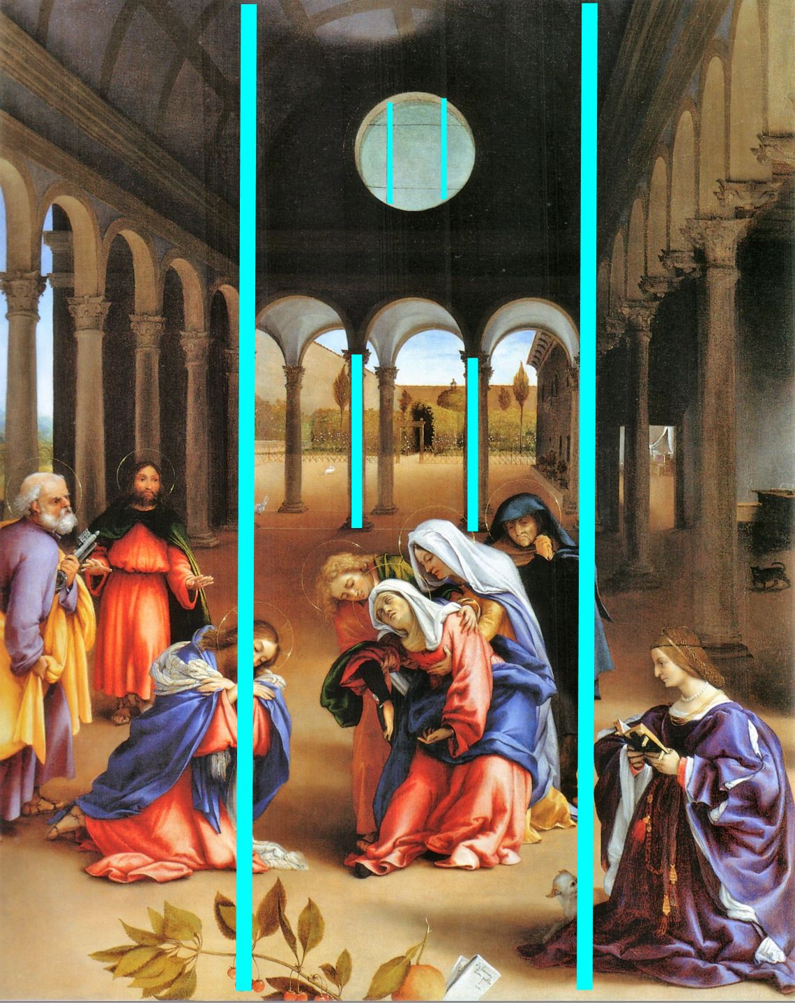 Lotto 1521 Christ taking leave o fhis mother avec Elisabetta Rota Gemaldegalerie, Berlin schema3