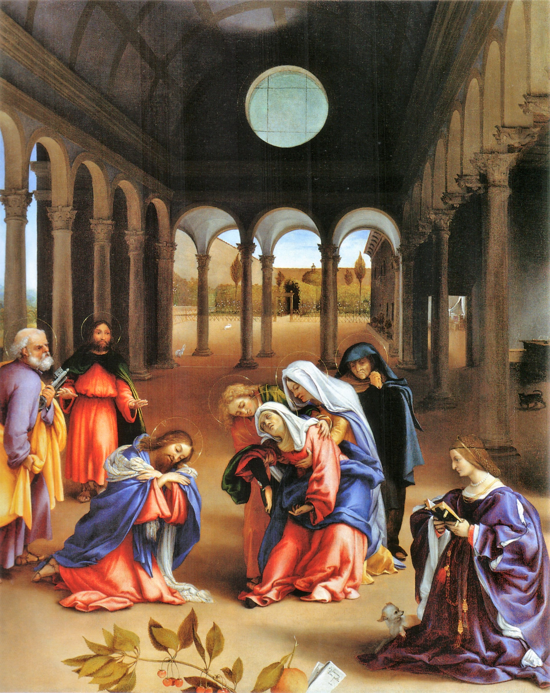 Lotto 1521 Christ taking leave o fhis mother avec Elisabetta Rota Gemaldegalerie, Berlin