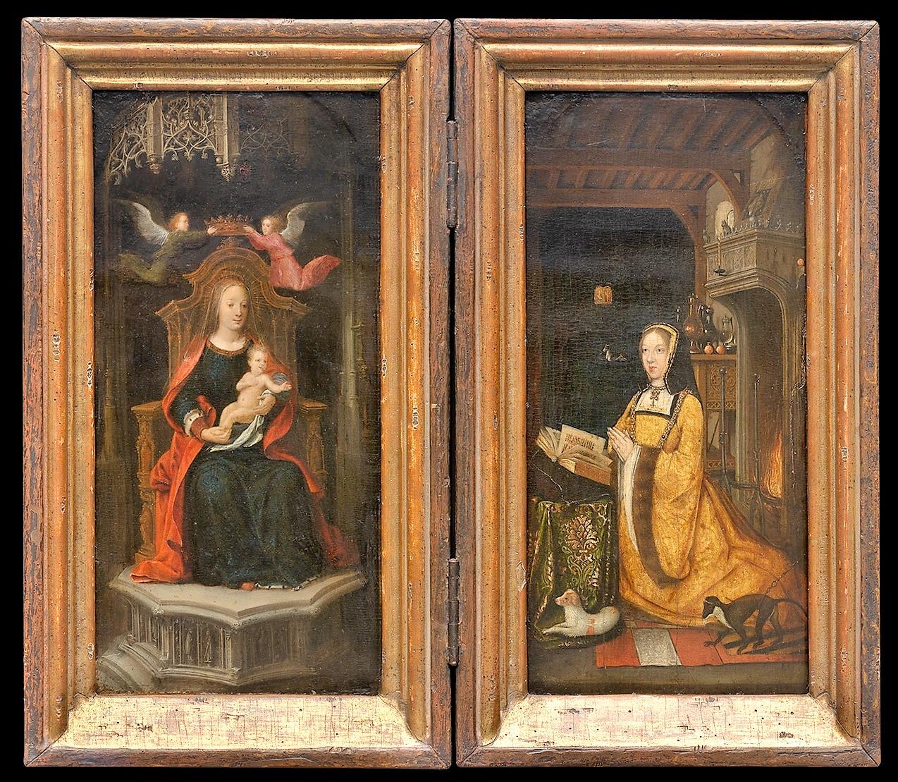 Master_of_1499 1500-10 Diptyque de Marguerite d'Autriche Museum voor Schone Kunsten, Ghent