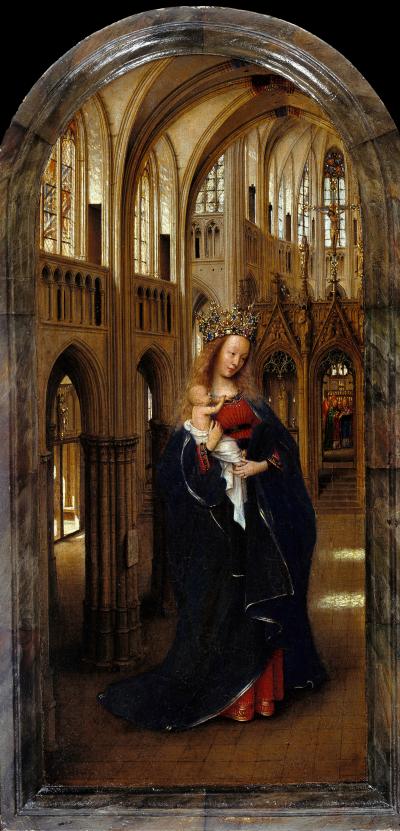 Van Eyck 1438–40 Madonna in the church Staatliche Museen, Berlin