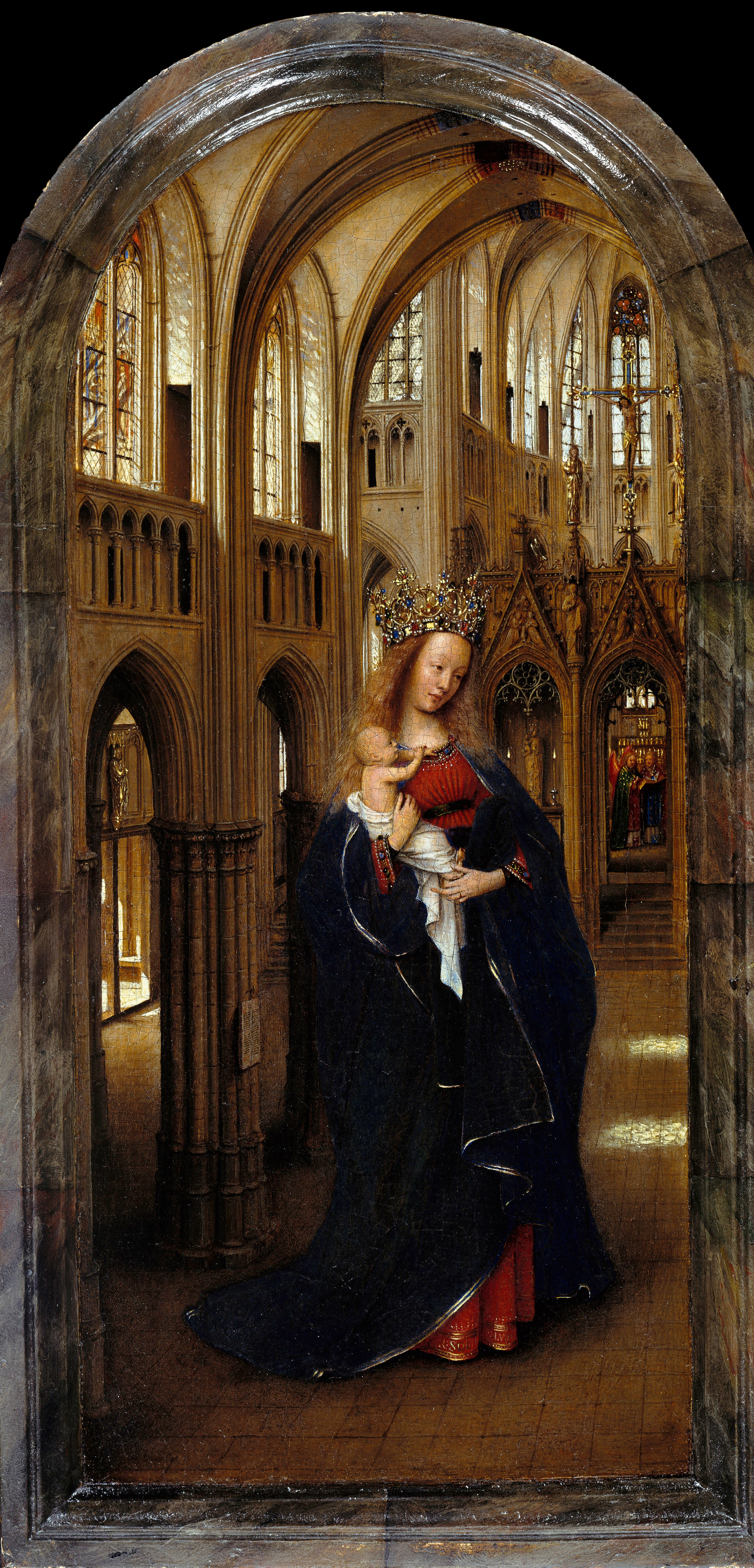 Van Eyck 1438–40 Madonna in the church Staatliche Museen, Berlin