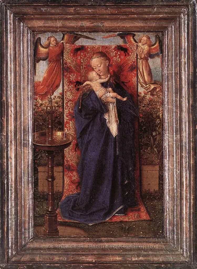 Van Eyck 1439 Vierge a la fontaine Musee royal des beaux-arts, Anvers