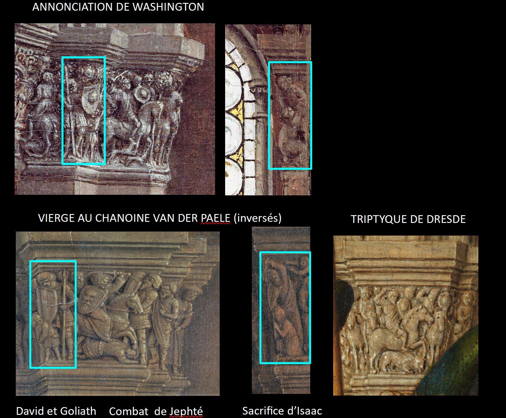 Van Eyck Annonciation 1434-36 NGA detail chapiteaux