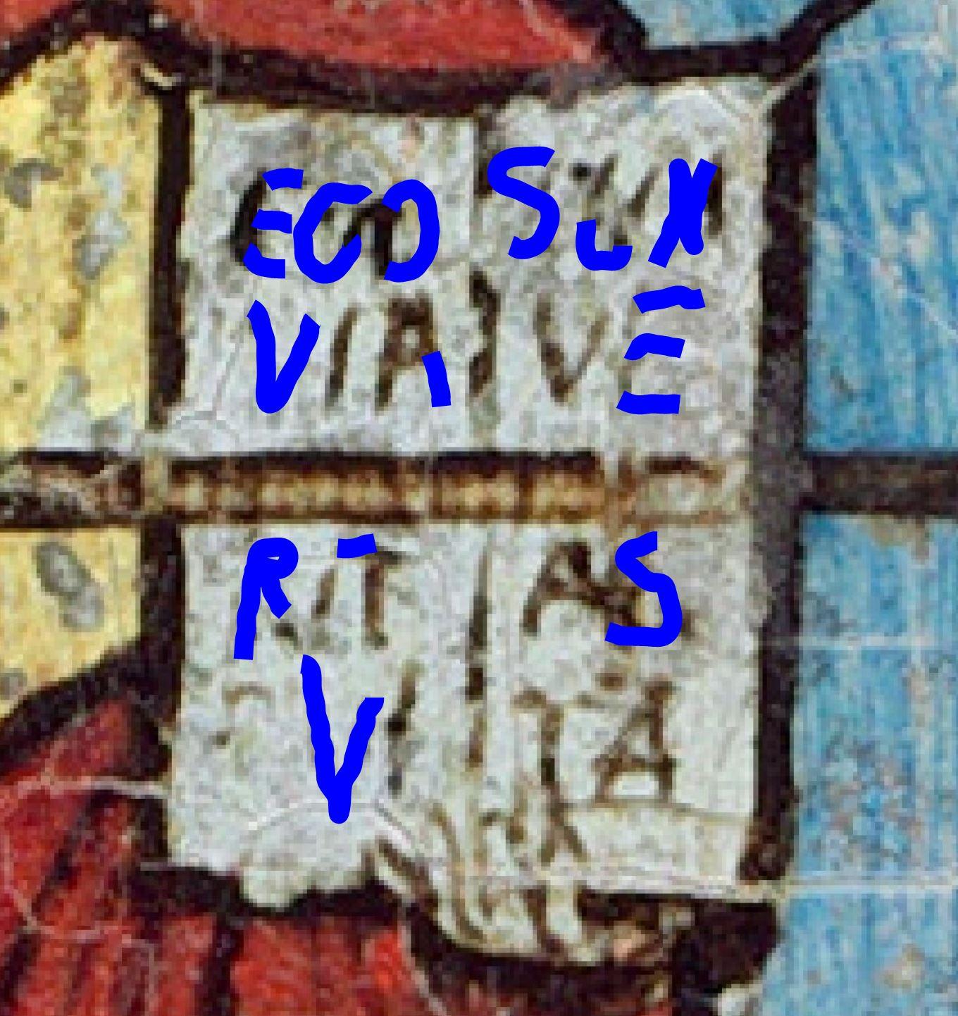 Van Eyck Annonciation 1434-36 NGA detail livre dechiffre