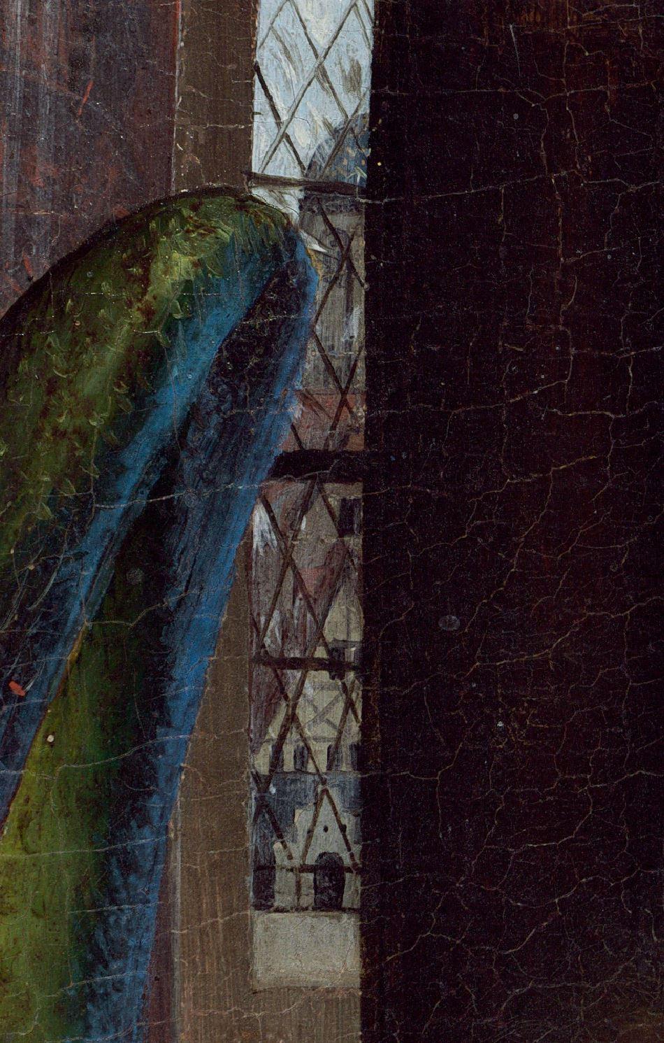 Van Eyck Annonciation 1434-36 NGA detail vitrail