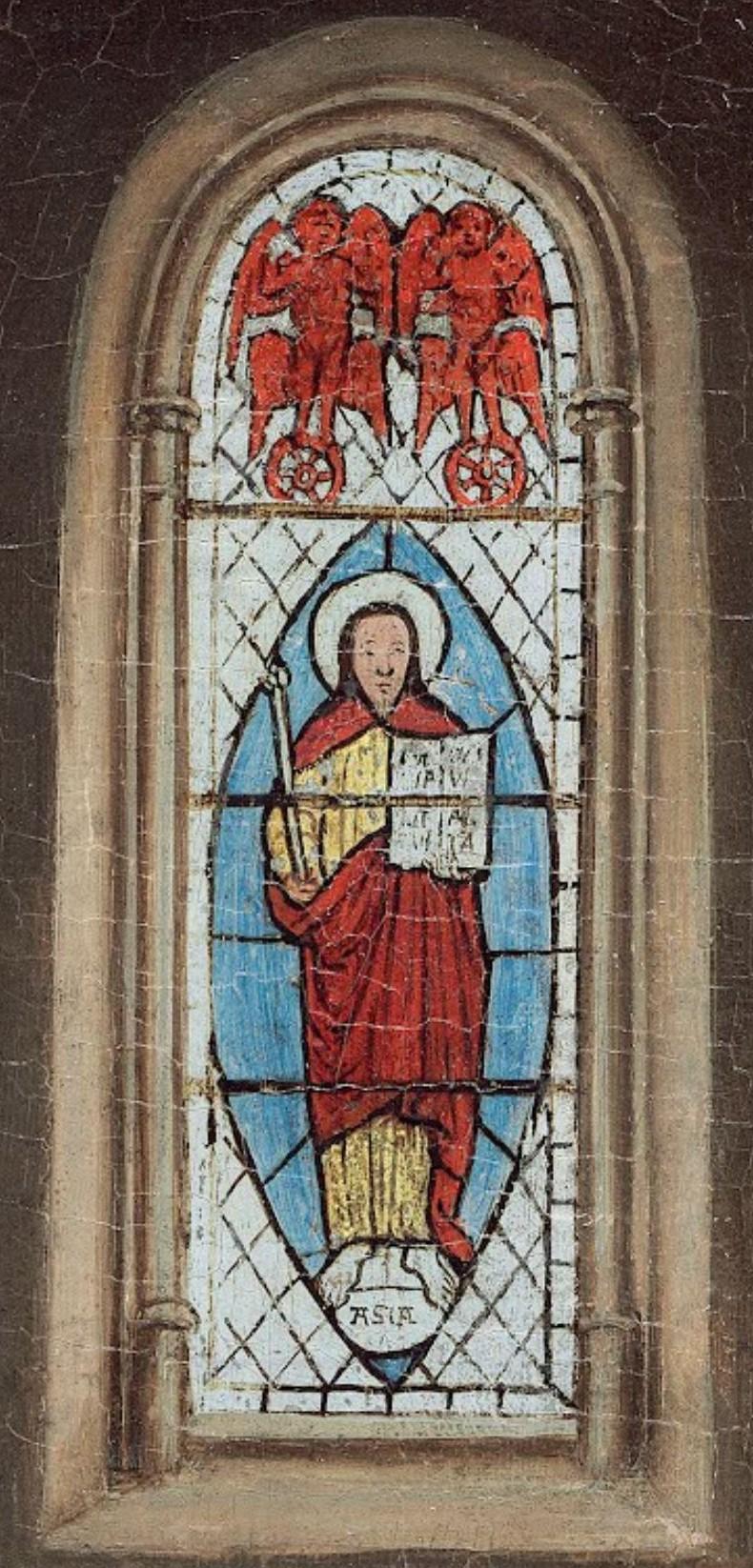 Van Eyck Annonciation 1434-36 NGA vitrail seul