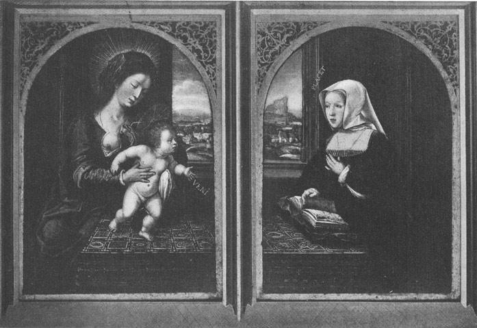 Van Orley (copie), apres 1518, Diptyque avec Marguerite d'Autriche localisation inconnue