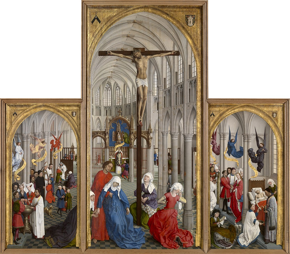 Van der Weyden 1445-50 Seven_Sacraments Altarpiece Royal Museum of Fine Arts Antwerp