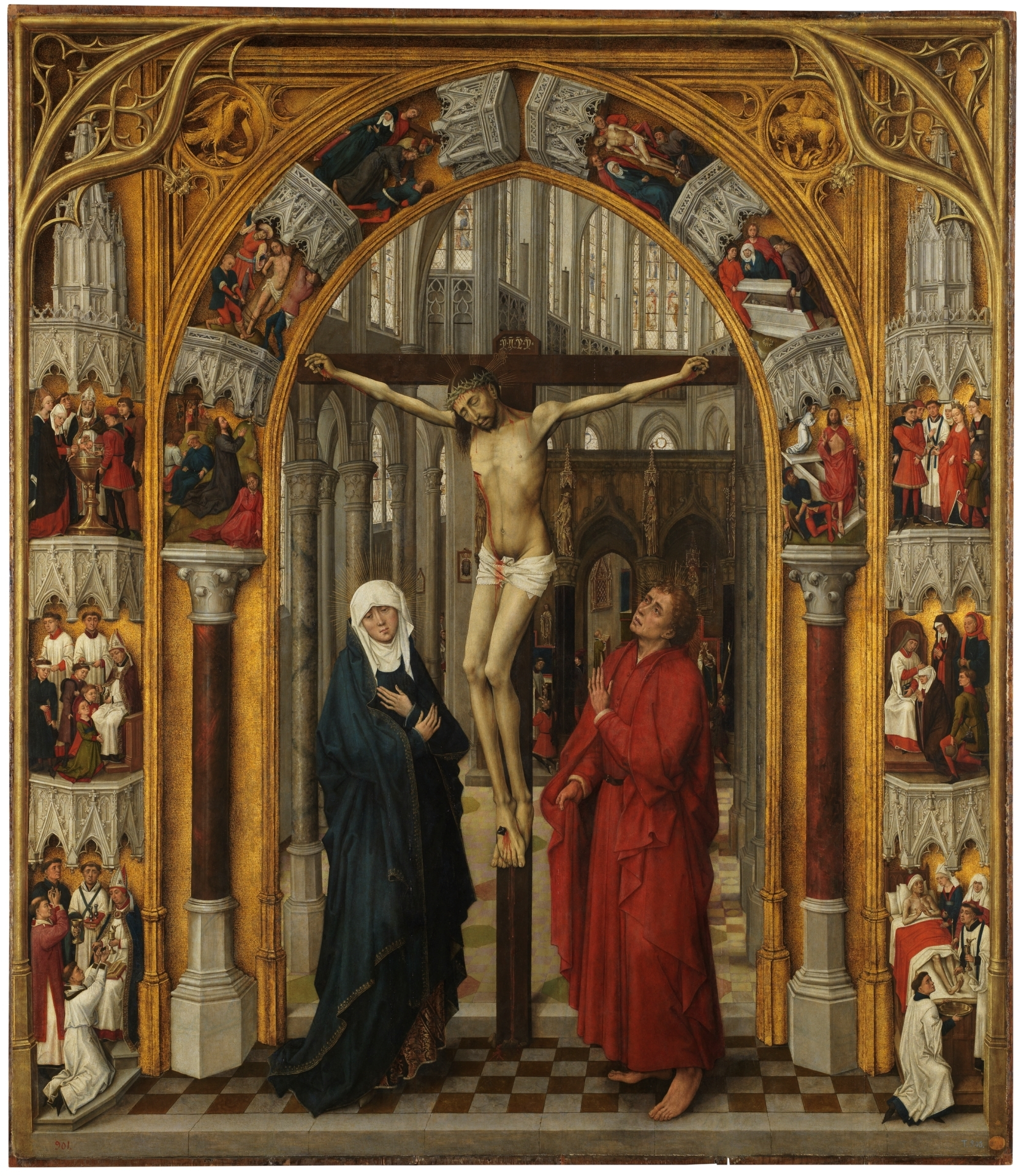 Van_der_Stockt 1450 ca Triptych_of_the_Redemption_-_The_Crucifixion Prado