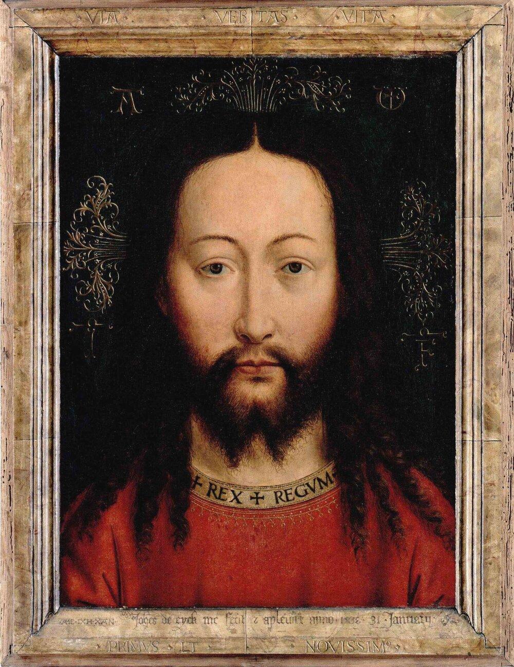 van eyck (copie) salvator mundi Gemaldegalerie Berlin