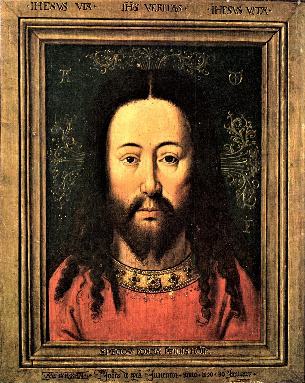 van eyck (copie) salvator mundi Groeningemuseum Bruges