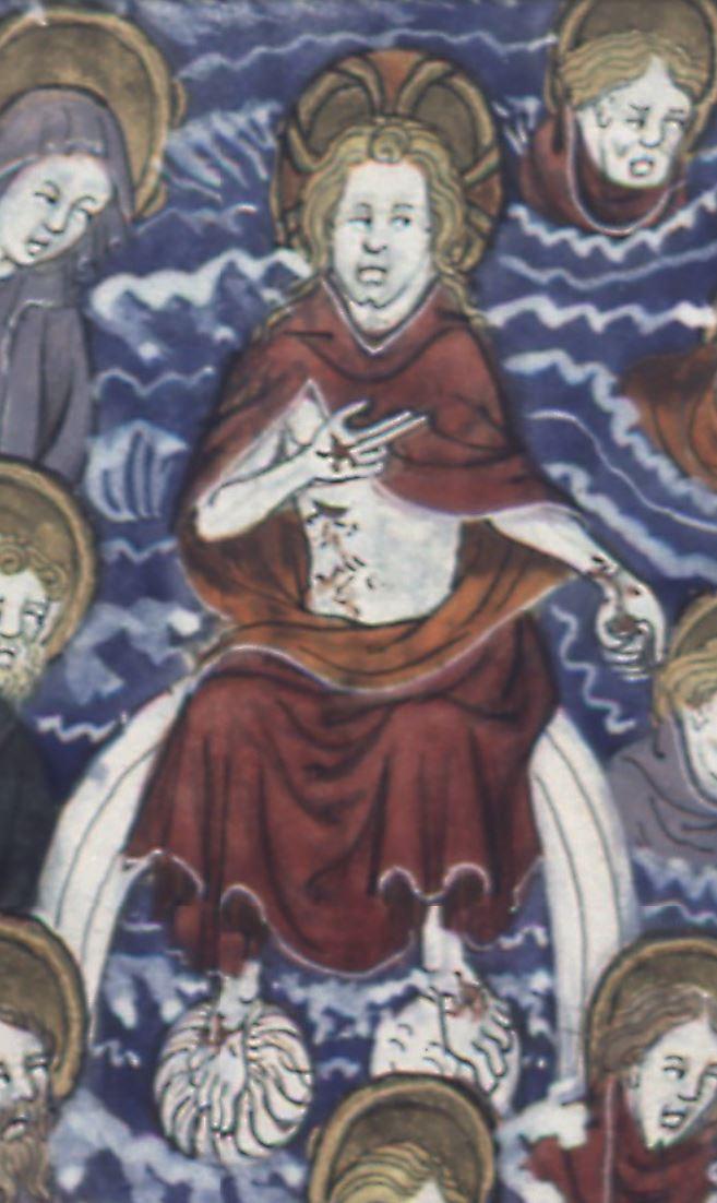 1375-1400 augustinus de civitate dei BNF Francais 171, fol. 315v, Jugement Dernier detail