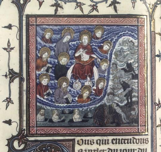1375-1400 augustinus de civitate dei BNF Francais 171, fol. 315v, Jugement Dernier