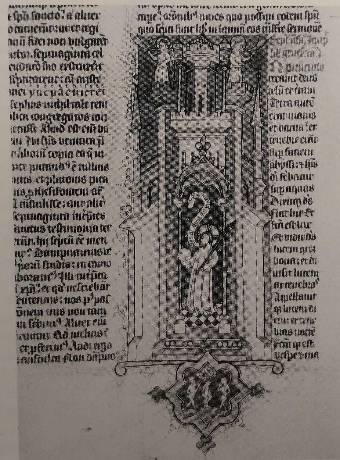 1410 ca Bible Hollandaise Kgl Bibliothek MS Thott 2 fol 4r