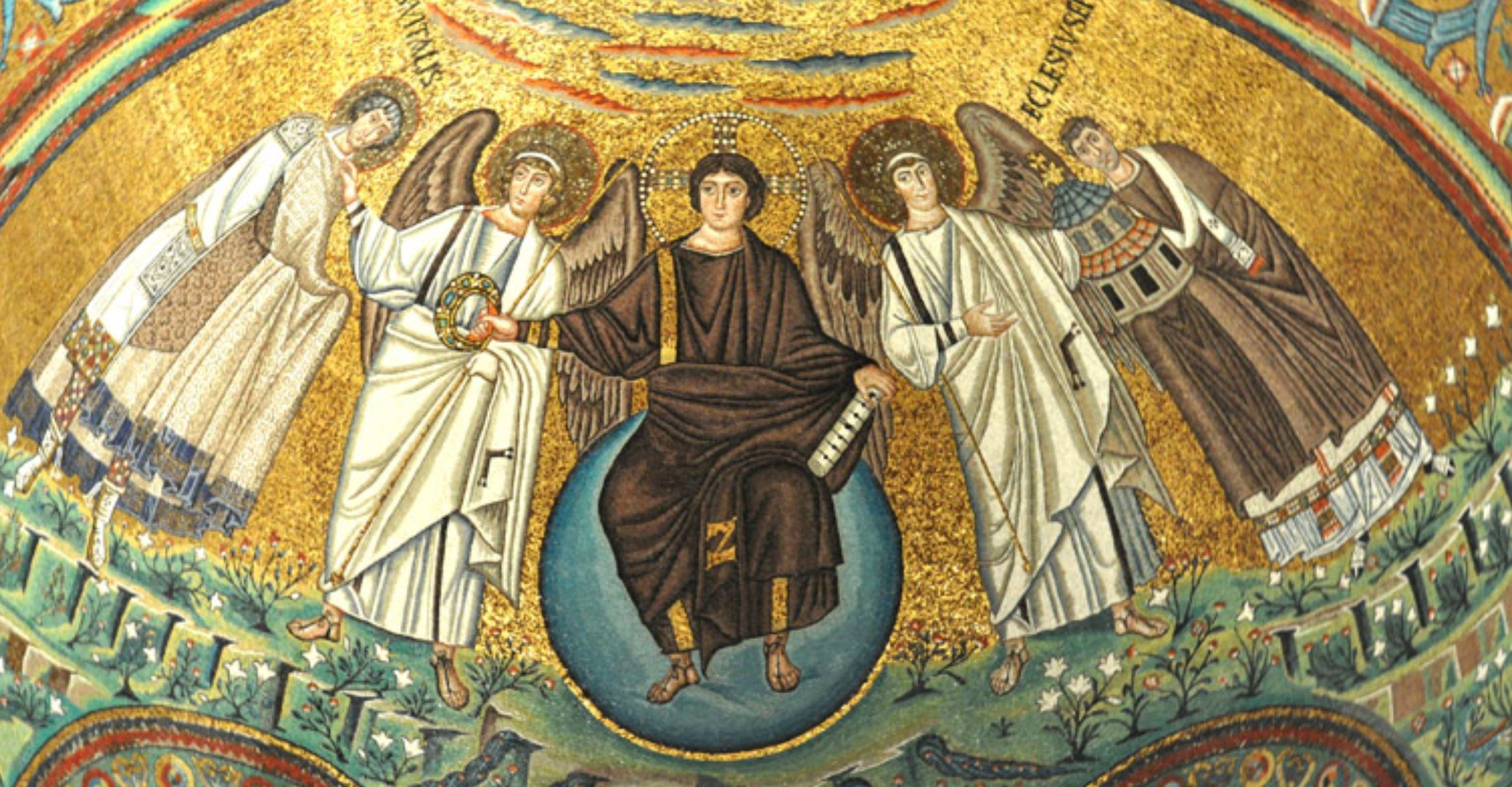 526-47 Apse_mosaic San_Vitale_-_Ravenna christ et anges