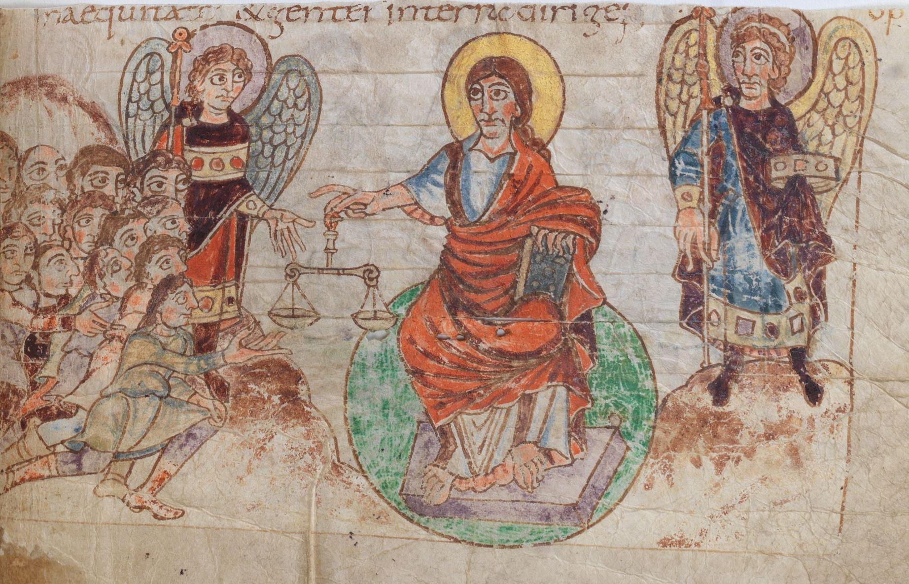 820 ca Psautier de Stuttgart Psaume 65,5 fol 76r Wurttembergische Landesbibliothek. Stuttgar