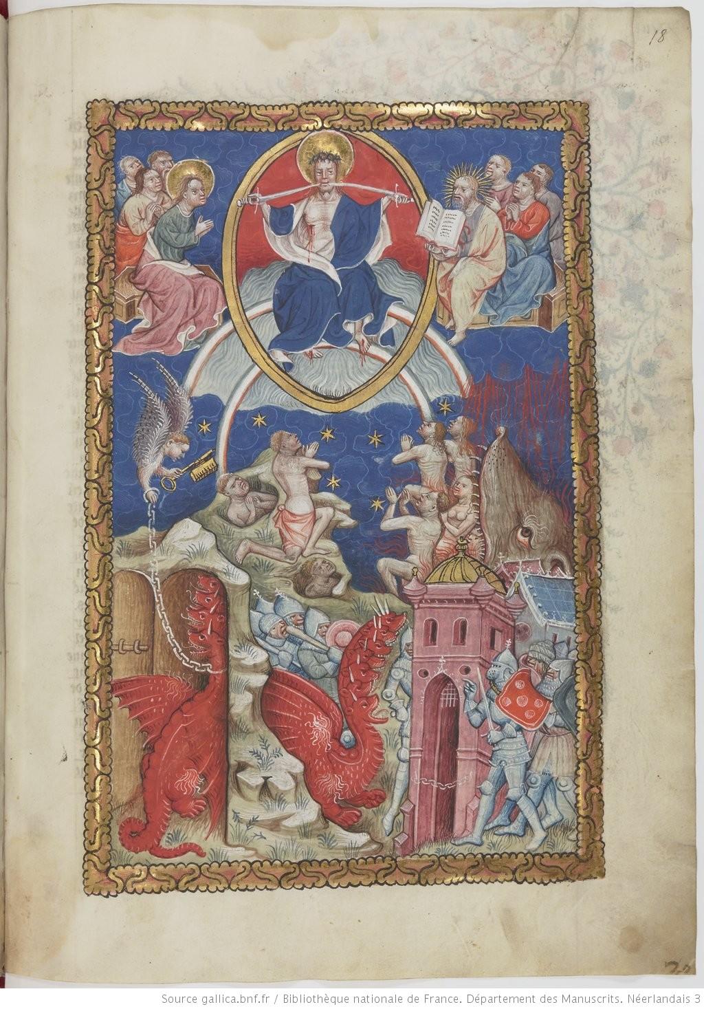 Apocalipsis in dietsche 1400 -50 BNF Ms. Neerlandais 3 fol 18r