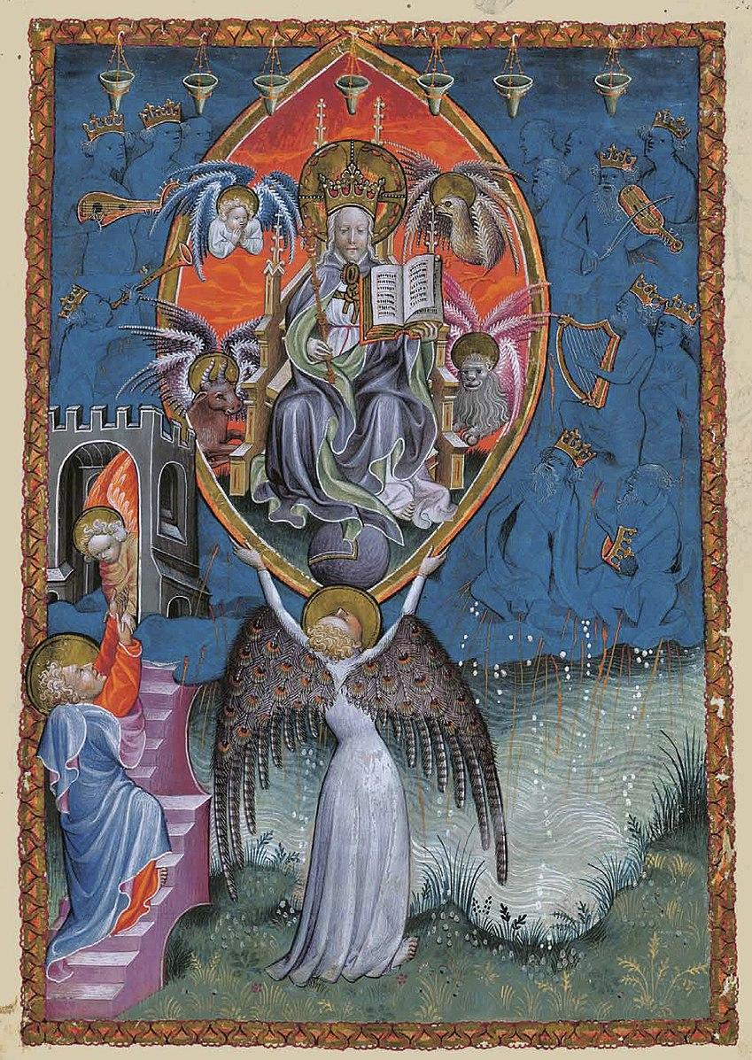 Apocalipsis in dietsche 1400-50 BNF Ms. Neerlandais 3 fol 5r