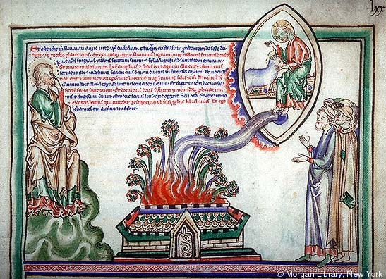 Apocalypse, Angleterre et France, Londres, 1255-60, MS M.524 fol. 21r, Morgan Library.