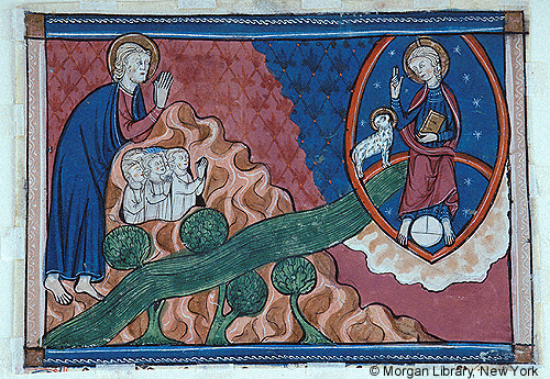 Apocalypse France, probably Lorraine, 1290-1299 M.1043.2v morgan Library
