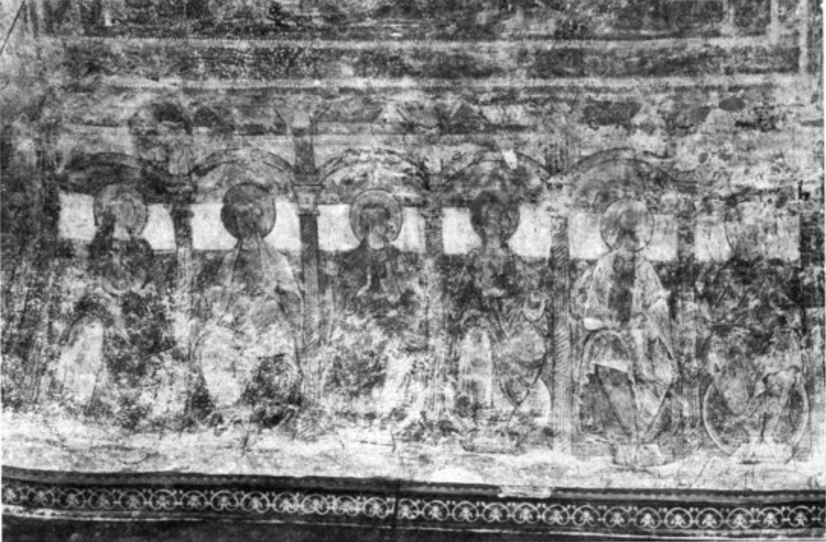 Apotres fresque abside ND la Grande Poitiers