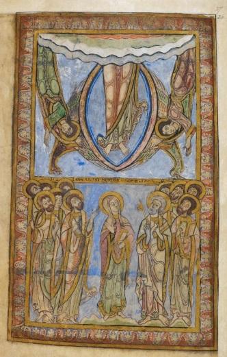 Ascension Cotton 1150 ca MS Nero C IV fol 27r. British Library
