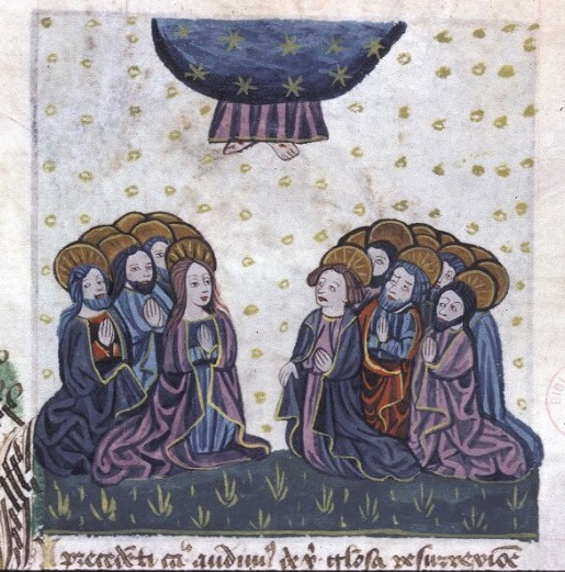 Ascension Speculum Humane salvationis, 1462,1Lyon, BM, 0245 (0177), fol 152v
