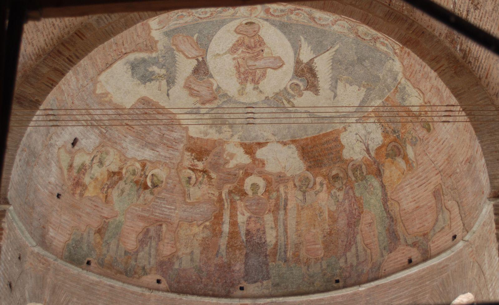 Ascension vers 885(fresco_in_Rotunda_of_Galerius) Thessalonique