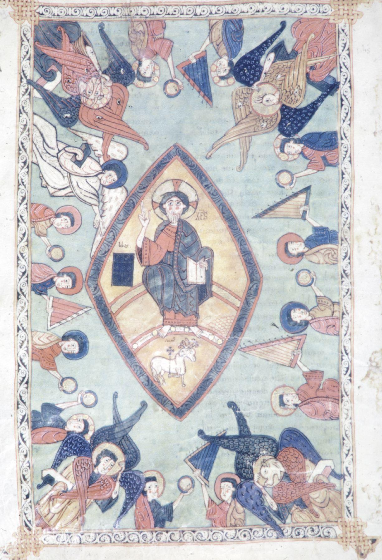 Beatus d'Osma 1086 Apocalypse 2-4 synoptique Burgo de Osma, Archivo de la Catedral, Cod. 1