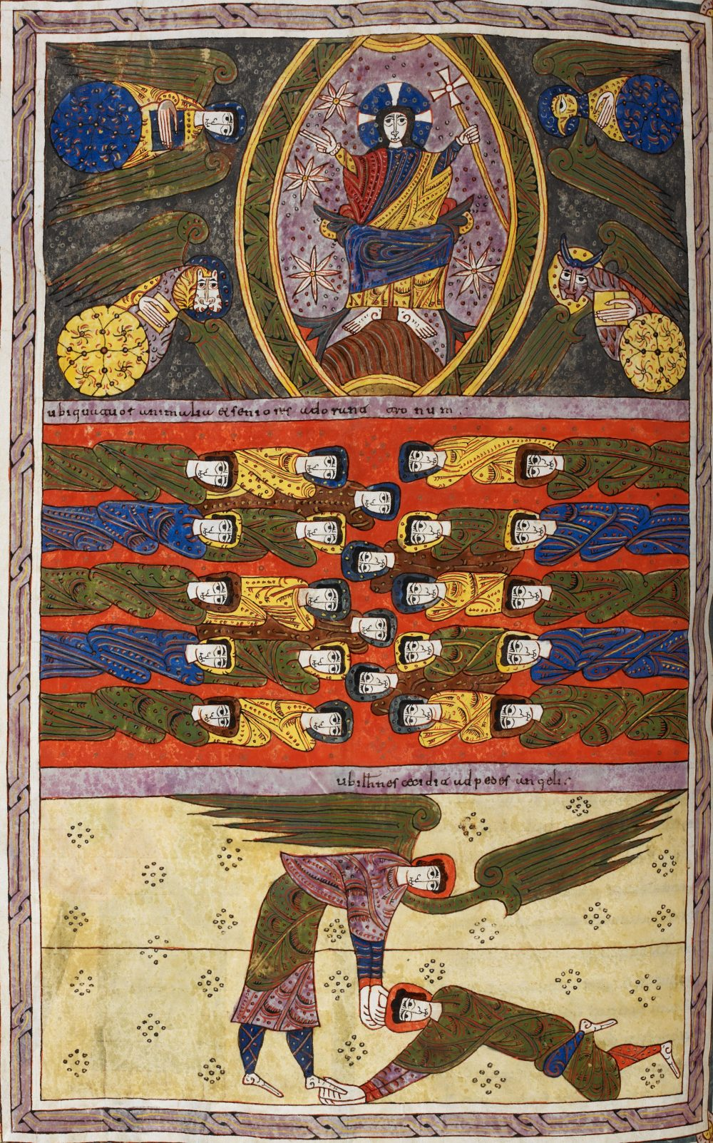 Beatus de Silos 1109 fol 194v Apocalypse 19,1-9 Folio-194v-British Library Add.11695