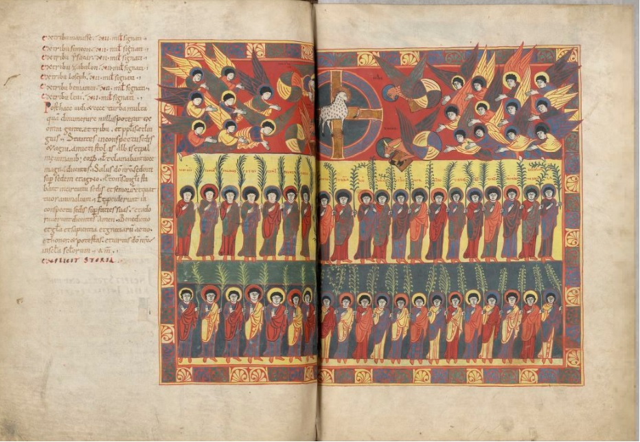 Beatus de saint Sever 1050 ca fol 120v 121r Artiste B MS Lat.8878 BNF gallica
