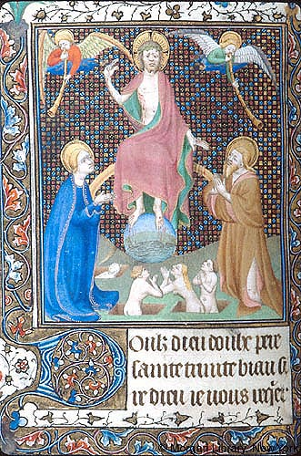 Book of Hours France, Paris, ca. 1417 MS M.455 fol. 166v Morgan Library