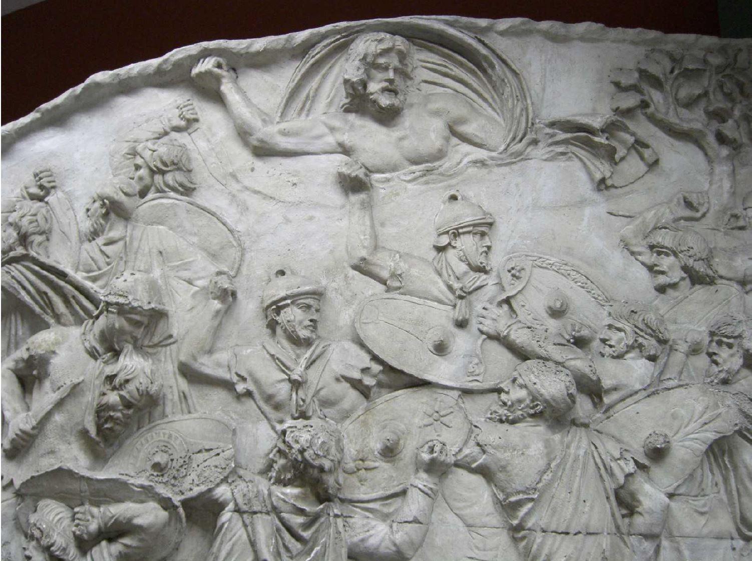 Caelus au dessus des soldats Colonne Trajane Rome