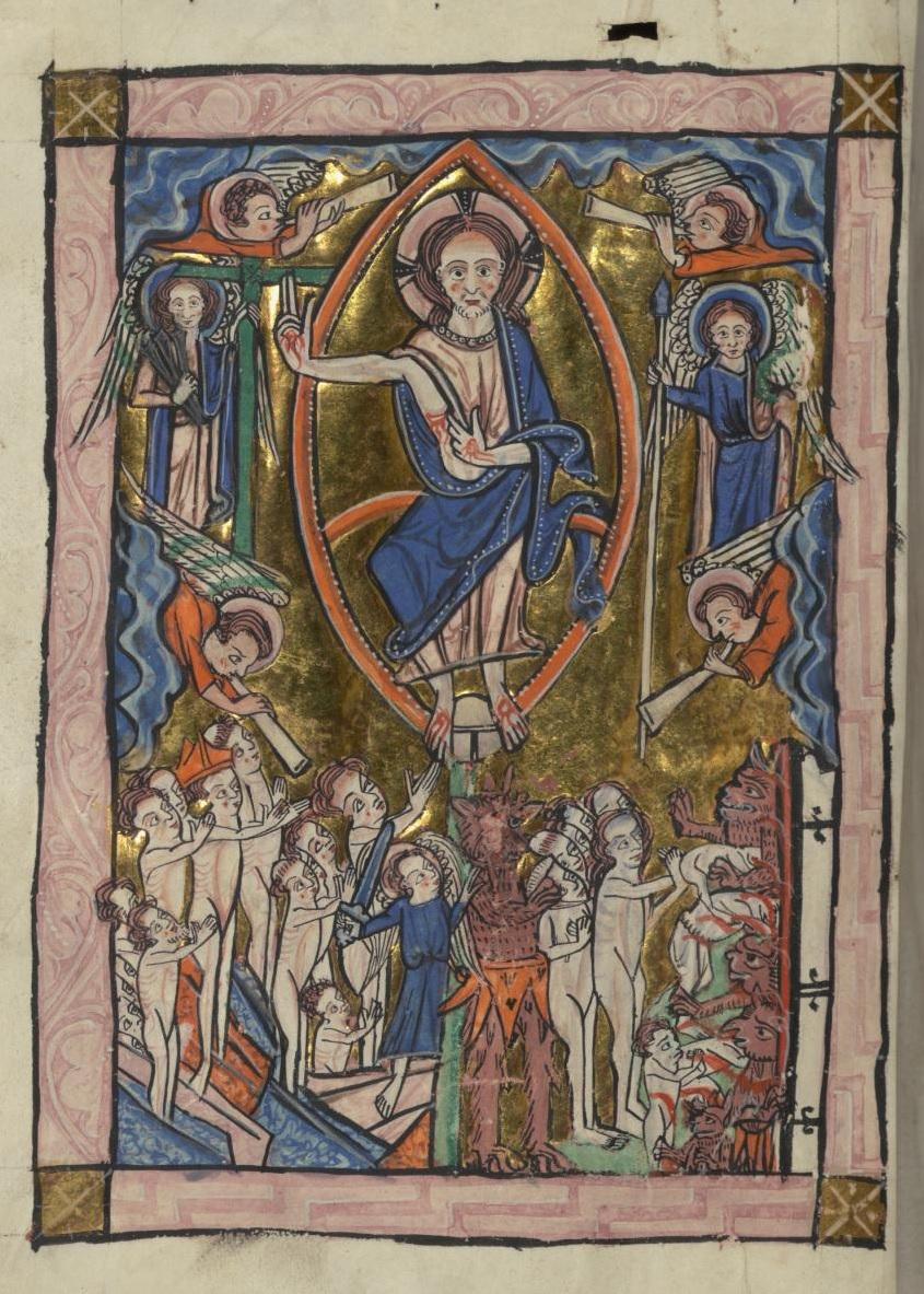 Carrow Psalter 1250 ca W.34.30V Walters Art Museum