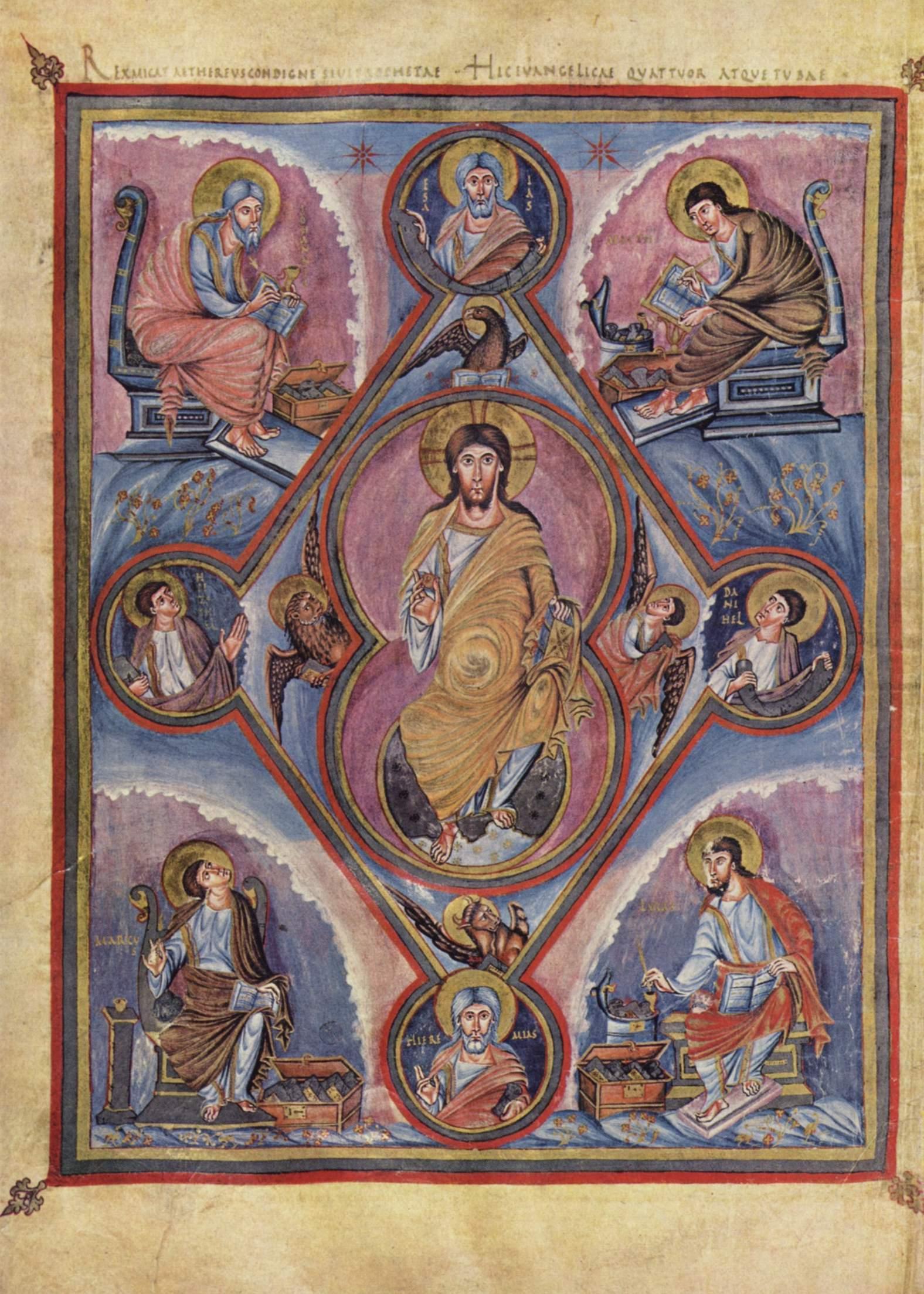 Christ en majeste 844-851 Premiere Bible de Charles le Chauve, BNF fol 329v