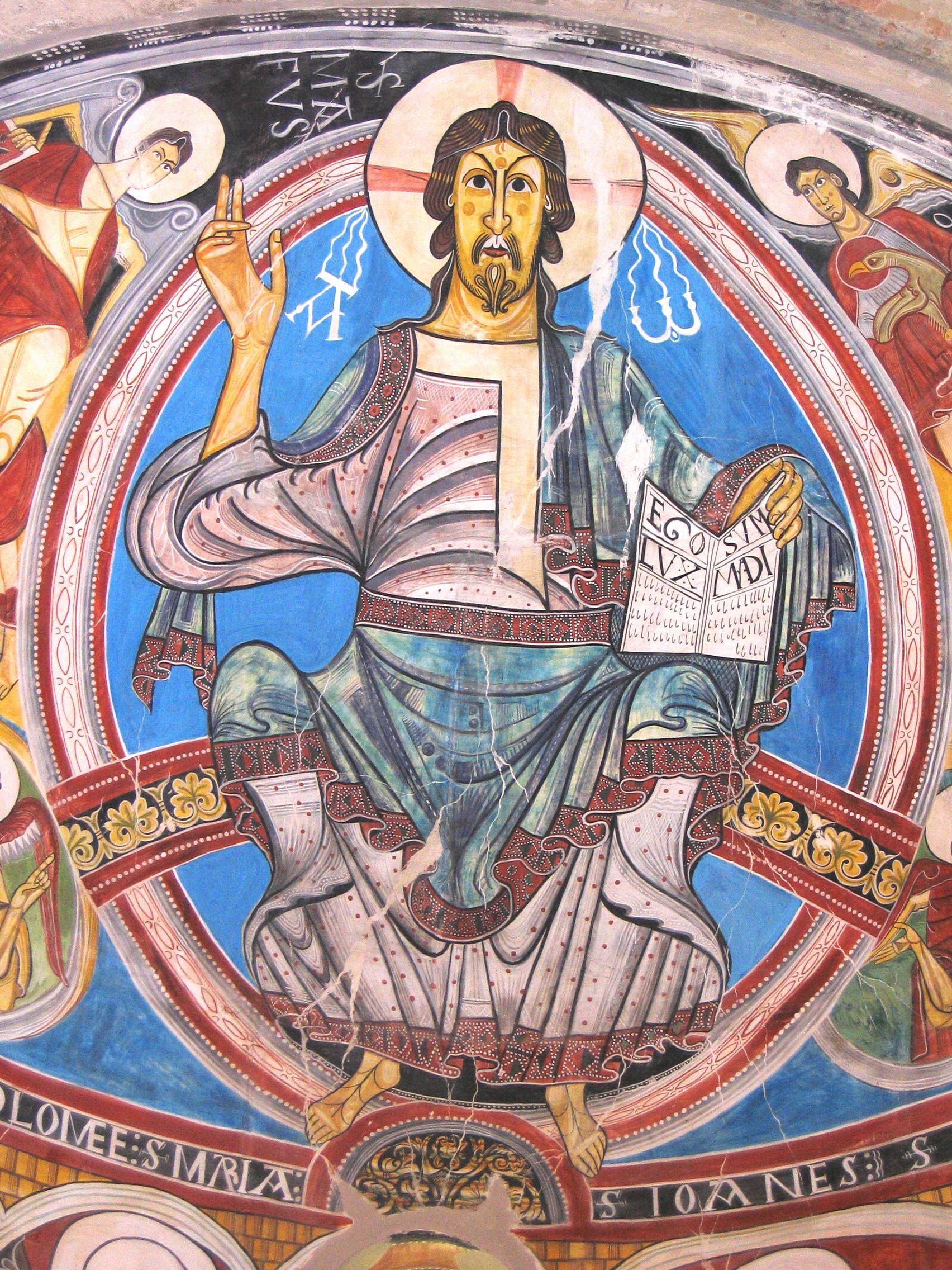 Christ en majeste de Taull 1123 musee national d'Art de Catalogne, Barcelone